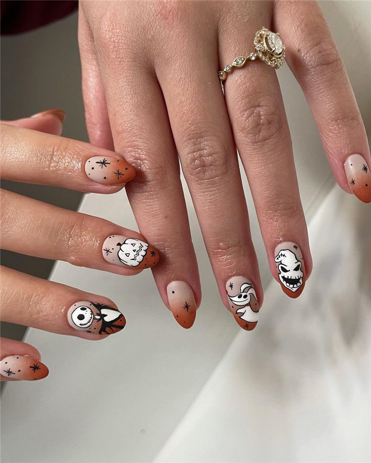 The Nightmare Before Christmas Halloween Nails