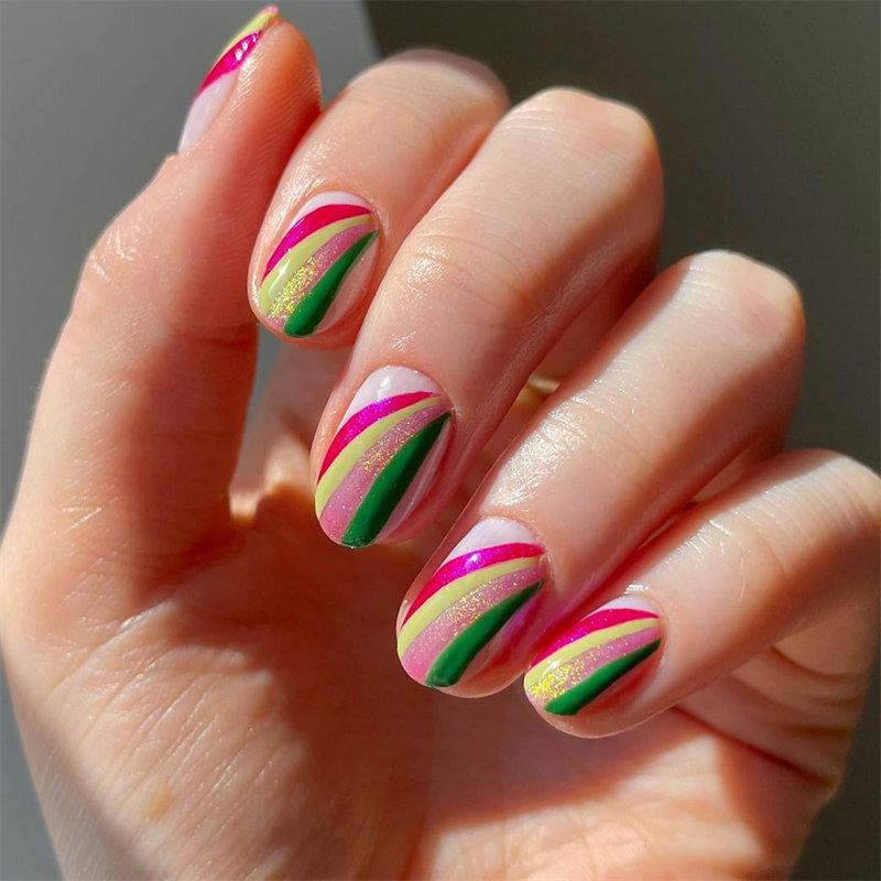Cute Rainbow Nail Art Idea