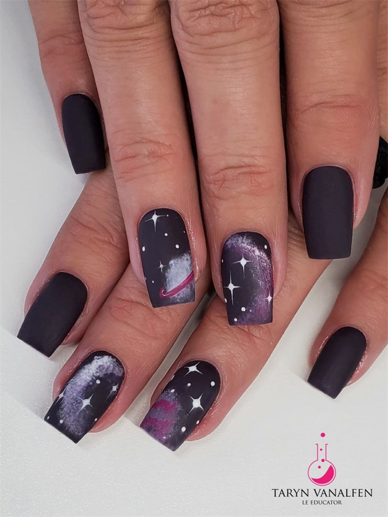 Simple Galaxy Nail Design to Insprie You