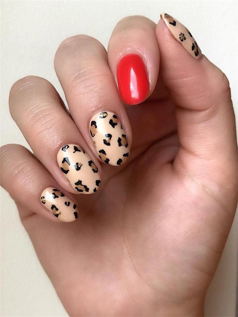 Leopard Print Nail Art Idea