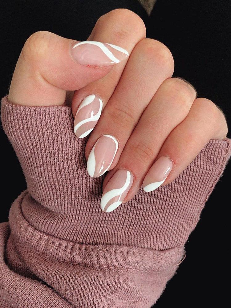 Abstract Nails Design Idea