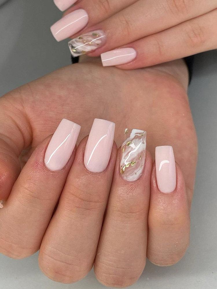 Glitter Pink Nails Design
