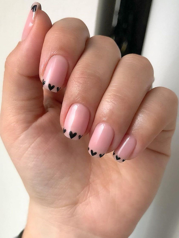 Valentines French Nails Design